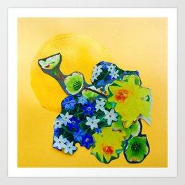 Garden Circle - Gold Art Print