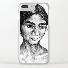 Emilie Strange Clear iPhone Case
