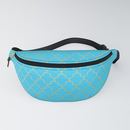 Moroccan Nights - Gold Teal Quadrefoil Pattern - Mix & Match with Simplicity of Life Fanny Pack
