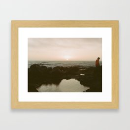 go to the sea and you will see Framed Art Print