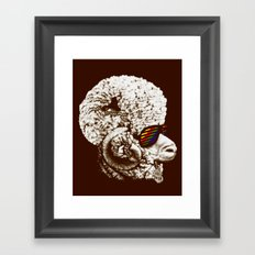 Funky sheep Framed Art Print
