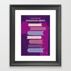 No655 My Dangerous Minds minimal movie poster Framed Art Print