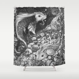 Koi Fish - The Life Cicle Shower Curtain