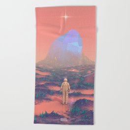 Lost Astronaut Series #02 - Giant Crystal Beach Towel