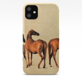 Classical Master Piece Circa 1762  Rockingham Mares and Foals by George Stubbs iPhone Case