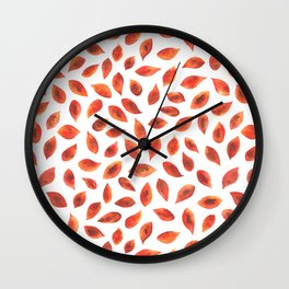 Autumn Leaves - by Rachel Whitehurst Wall Clock