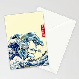 blue eyes white dragon Stationery Cards