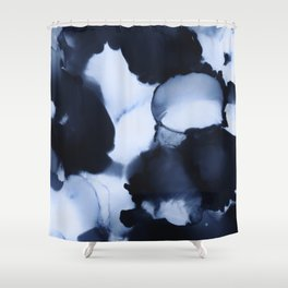 BLUE INK 22 Shower Curtain