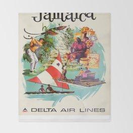 Vintage poster - Jamaica Throw Blanket