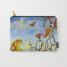 A Rabbit in the Garden Carry-All Pouch