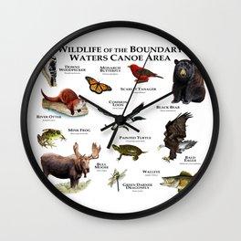 Wildlife of the Boundary Water Canoe Area Wall Clock