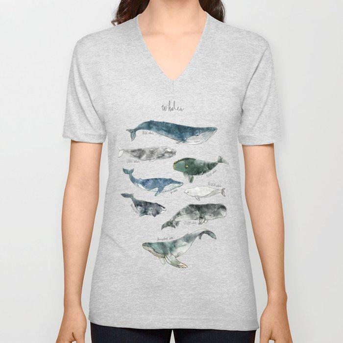 Whales Unisex V-Ausschnitt