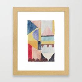 modern abstract watercolor II Framed Art Print