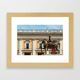 Equestrian Statue of Marcus Aurelius Framed Art Print