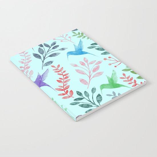 Watercolor Floral & Birds III Notebook
