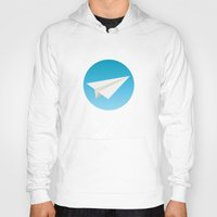 planes Hoodies featuring Paper Planes by Elle Moz