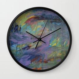 Purple Whirlwind Wall Clock