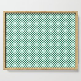 Jelly Bean Green Polka Dots Serving Tray