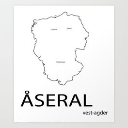 map of åseral Art Print