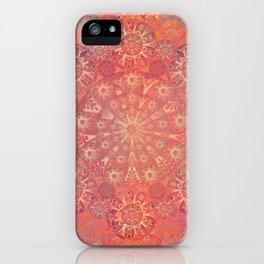 """Coral & Rosewood Mandala (pattern)"" iPhone Case"