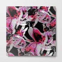 Floral illusions pattern - Dorothy Metal Print