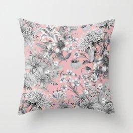 FLORAL GARDEN 7 Throw Pillow