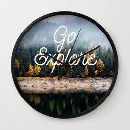 Go Explore Wall Clock