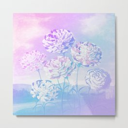 Colorful Pastel Flowers Metal Print