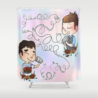 glee Shower Curtains featuring The Sound Of Love by Sunshunes