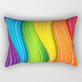 Colorful Rainbow Rectangular Pillow