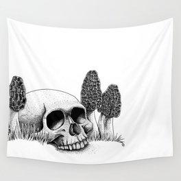 Skull & Morel Wall Tapestry