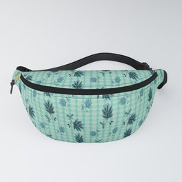 country blue flowers pattern Fanny Pack