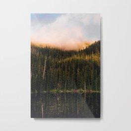 Golden Reflection Metal Print