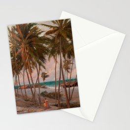 Beach in Fortaleza Stationery Cards