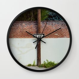 One Way Sign In An Alley Wall Clock