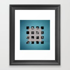 SQUARE AMBIENCE - Blue Sports Framed Art Print