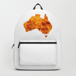 Australia Map With Flames Background Backpack