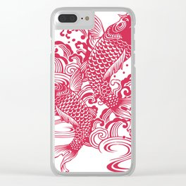 Red Koi Clear iPhone Case
