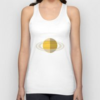 saturn Tank Tops featuring Saturn by Oinkasaurus
