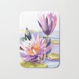 Water Lily,  Lotus Bath Mat