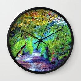 The Path. Landscape. © J&S Montague. Wall Clock