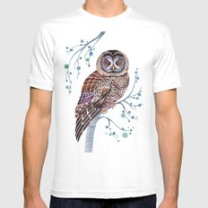 lacy owl MEDIUM Mens Fitted Tee White