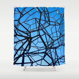 Blue Leica sky Shower Curtain