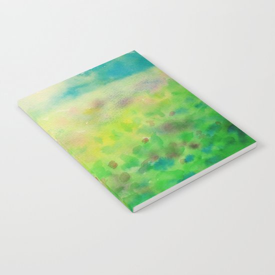 Green & Blue Mystical Spring Notebook