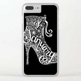 Monochrome January Clear iPhone Case