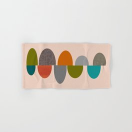 Mid-Century Modern Ovals Abstract Hand & Bath Towel