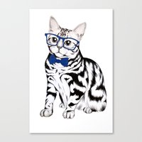 kitty Canvas Prints featuring Kitty by 13 Styx