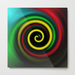 Swirling colours. Metal Print