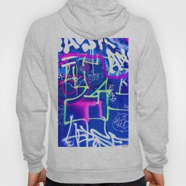Blue Mood with Pink Language Hoody