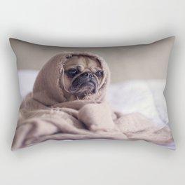 sad dog Rectangular Pillow